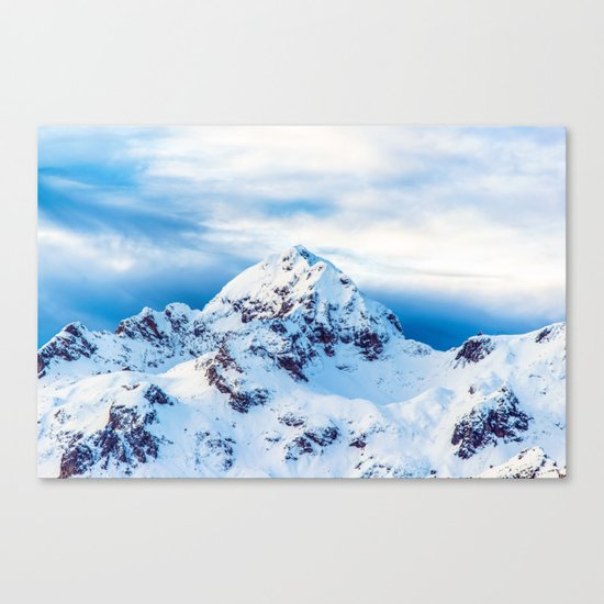 Snow Covered Mountain Canvas Print