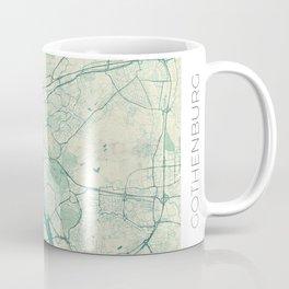 Gothenburg Map Blue Vintage Coffee Mug