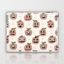 Pumpkin halloween jack-o'-lantern fall autumn carving cute pattern Laptop & iPad Skin