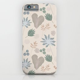 Muted Garden Greenery and Blooms iPhone Case