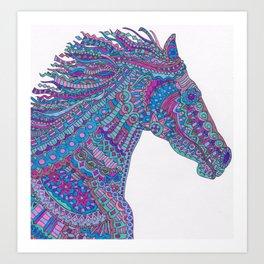 Technicolor Horse Art Print