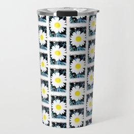 SMILE Pattern - White Daisy Flower #1 Travel Mug