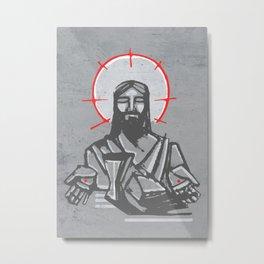 Jesus Christ and Eucharist symbols Metal Print