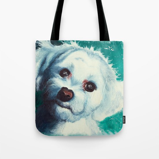 Maltese dog - Pelusa - by LiliFlore Tote Bag