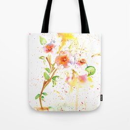 Little Garden Watercolor Tote Bag