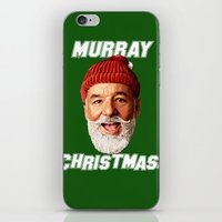 murray iPhone & iPod Skins featuring MURRAY CHRISTMAS by ACSM17H