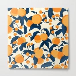 Vintage Apricot Pattern Metal Print