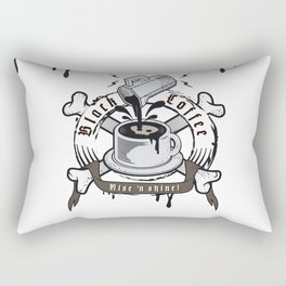 black coffee 'rise and shine' Rectangular Pillow
