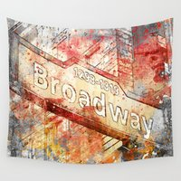 broadway Wall Tapestries featuring Broadway  by LebensART