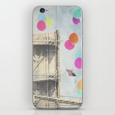 Bright Brooklyn Bridge Balloons iPhone & iPod Skin
