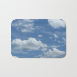 Blue Summer Sky // Cloud Photography Bath Mat