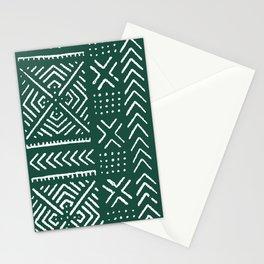 Line Mud Cloth // Brunswick Green Stationery Cards