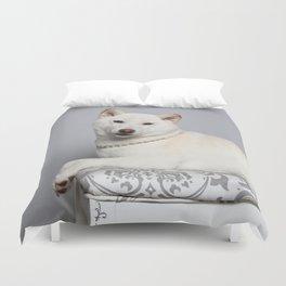 Cream Shiba Inu Dog Duvet Cover