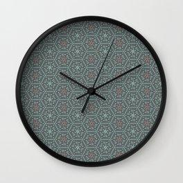 Going Round and Round - Pink/Aqua/Grey Wall Clock