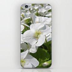 white snow flowers IV iPhone & iPod Skin
