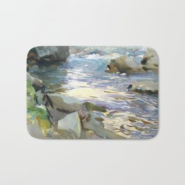 Stream and Rocks by John Singer Sargent, 1901 Bath Mat