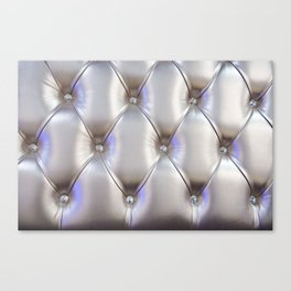 Silvery leather with rhinestone decoration Canvas Print
