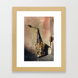 New Orleans French Quarter Saxophone Framed Art Print
