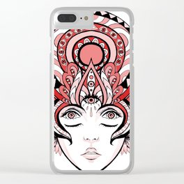 Queen of Consciousness Clear iPhone Case