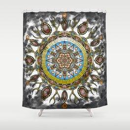 Fiery Mandala Shower Curtain