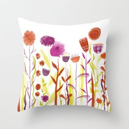 Mixed up Meadow Throw Pillow