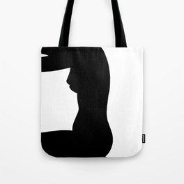 Nude silhouette figure - Nude black 002 Tote Bag