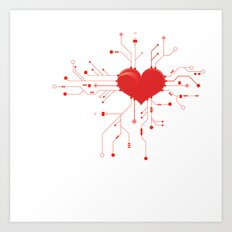My Tech Heart Art Print