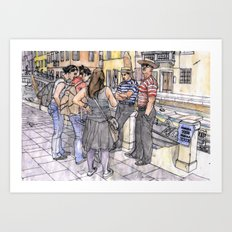 Turiste a Venezia Art Print