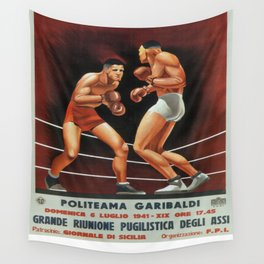Vintage poster - Boxing Wall Tapestry