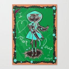 """""""I love mon loup"""" Canvas Print"""