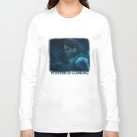 bucky barnes Long Sleeve T-shirts featuring The Winter Soldier (Bucky Barnes) by thecannibalfactory