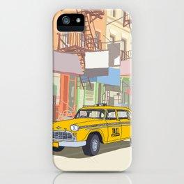 NEW YORK CAB iPhone Case