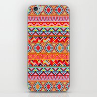 india iPhone & iPod Skins featuring India Style Pattern (Multicolor) by Diego Tirigall