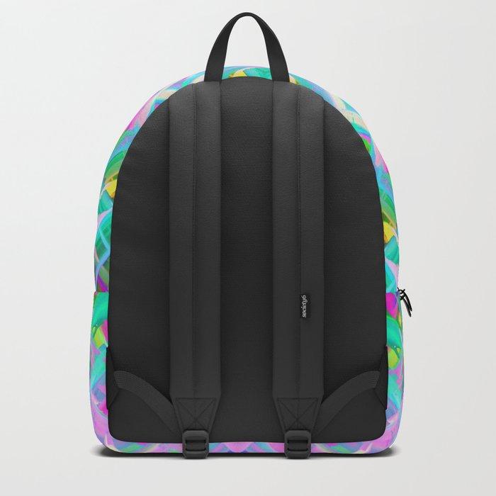 Colorful digital art splashing G473 Backpack
