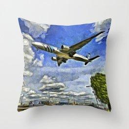 Airliner Vincent Van Gogh Throw Pillow