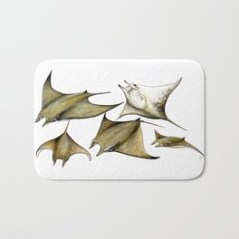 Chilean devil manta ray (Mobula tarapacana) Bath Mat