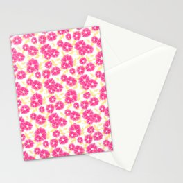 12 Sketched Mini Flowers Stationery Cards