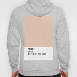 pantone, nude, CMYK colorblock Hoody