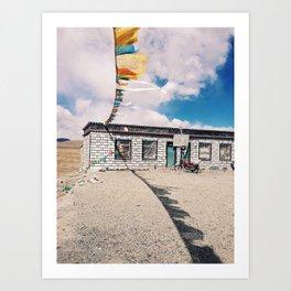 Tibetan home Art Print
