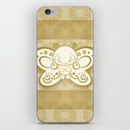 Golden Butterfly iPhone Skin
