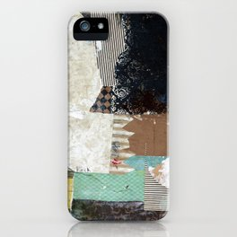 Another Vice Mixed Media Abstract Collage Art iPhone Case