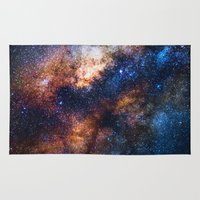 milky way Area & Throw Rugs featuring Milky Way by Zavu