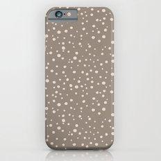 PolkaDots-Peach on Taupe Slim Case iPhone 6s