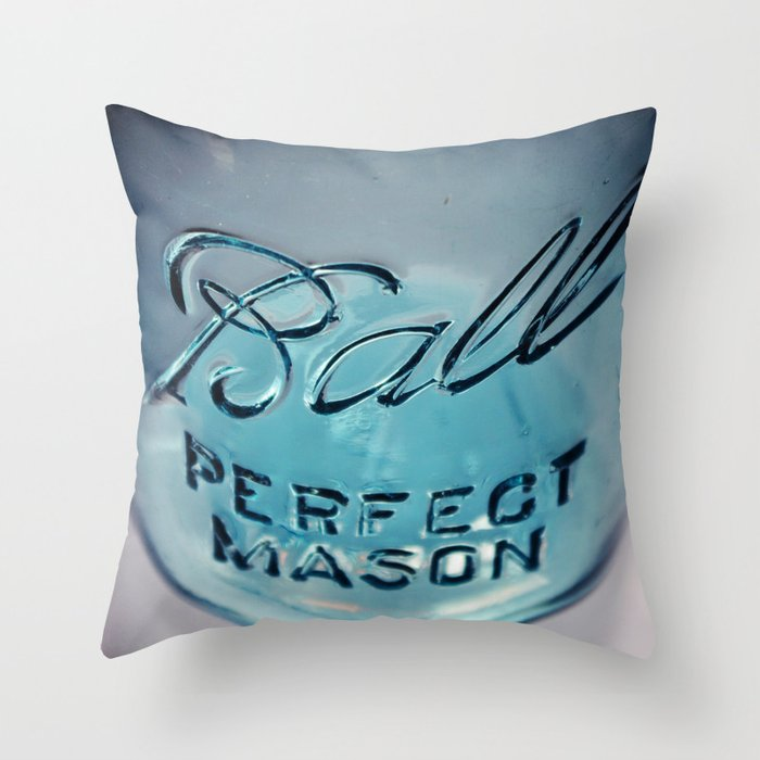 Mason Jar Throw Pillow