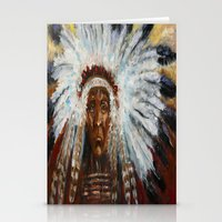 native american Stationery Cards featuring Native American by Mary J. Welty