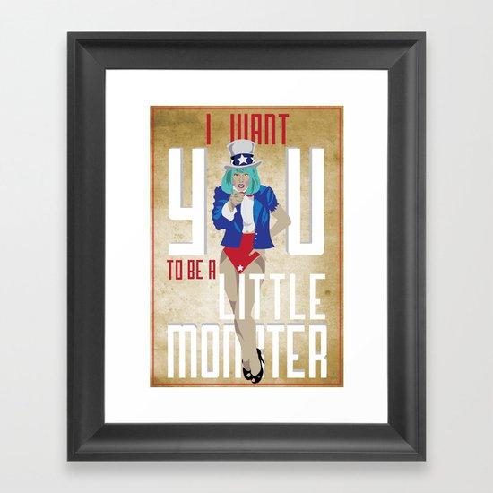 For The Monsters Framed Art Print