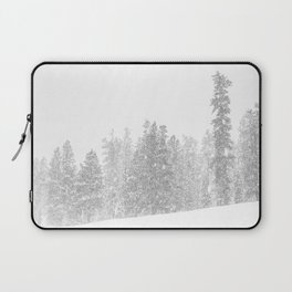 Snowy Slope // Mountain Ski Landscape Photography Black and White Snowboarding Winter Decor Laptop Sleeve