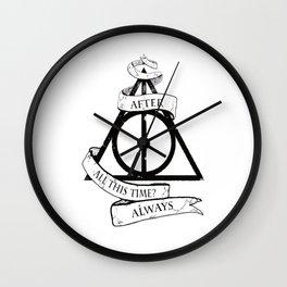 Always harry poter Wall Clock