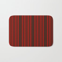 Red and Black Stripes Bath Mat