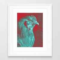 rooster Framed Art Prints featuring Rooster by Angelandspot